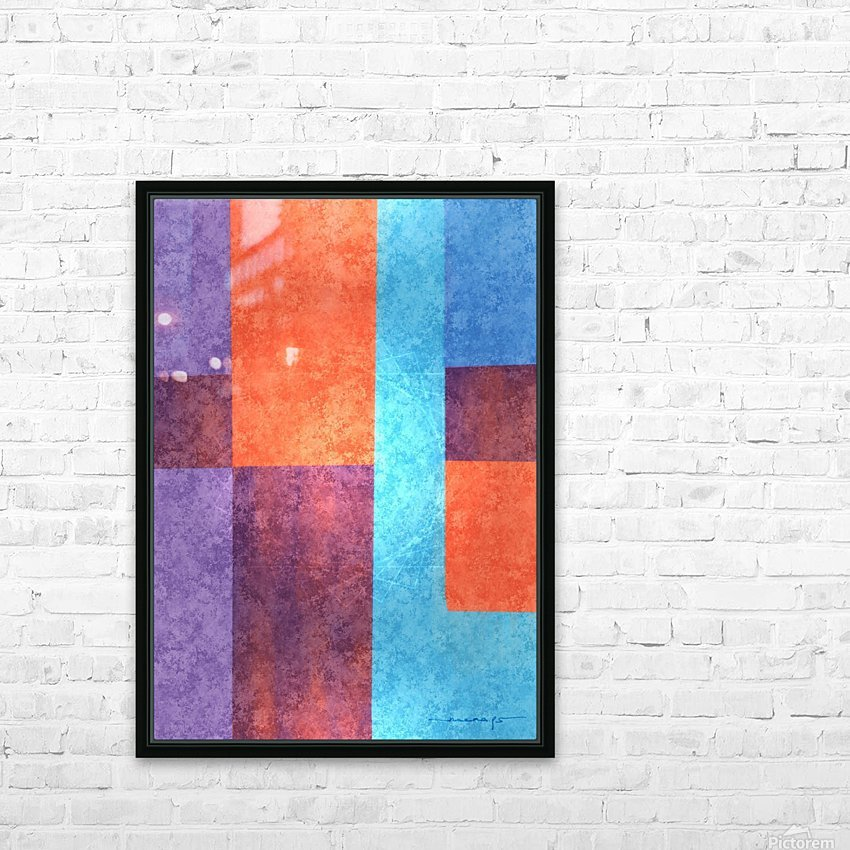 Abstract Geometric Space 3 HD Sublimation Metal print with Decorating Float Frame (BOX)