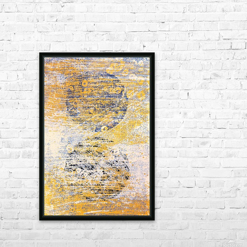 Abstract Painting HD Sublimation Metal print with Decorating Float Frame (BOX)
