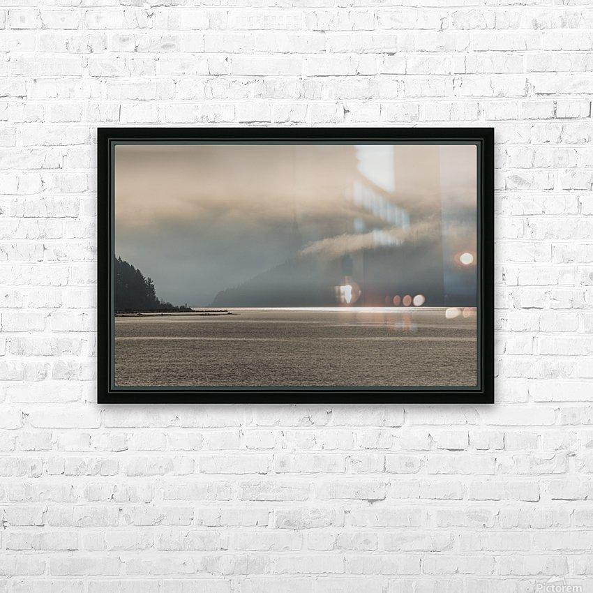 Alberni fog HD Sublimation Metal print with Decorating Float Frame (BOX)