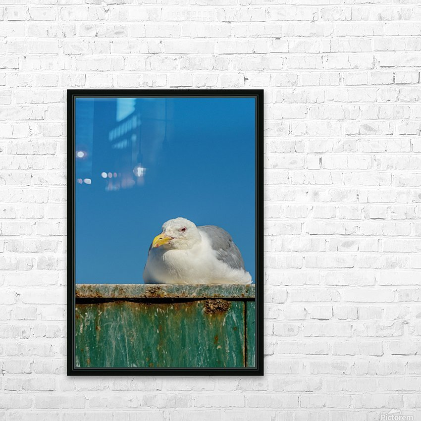 Sitting on the dock of the bay HD Sublimation Metal print with Decorating Float Frame (BOX)