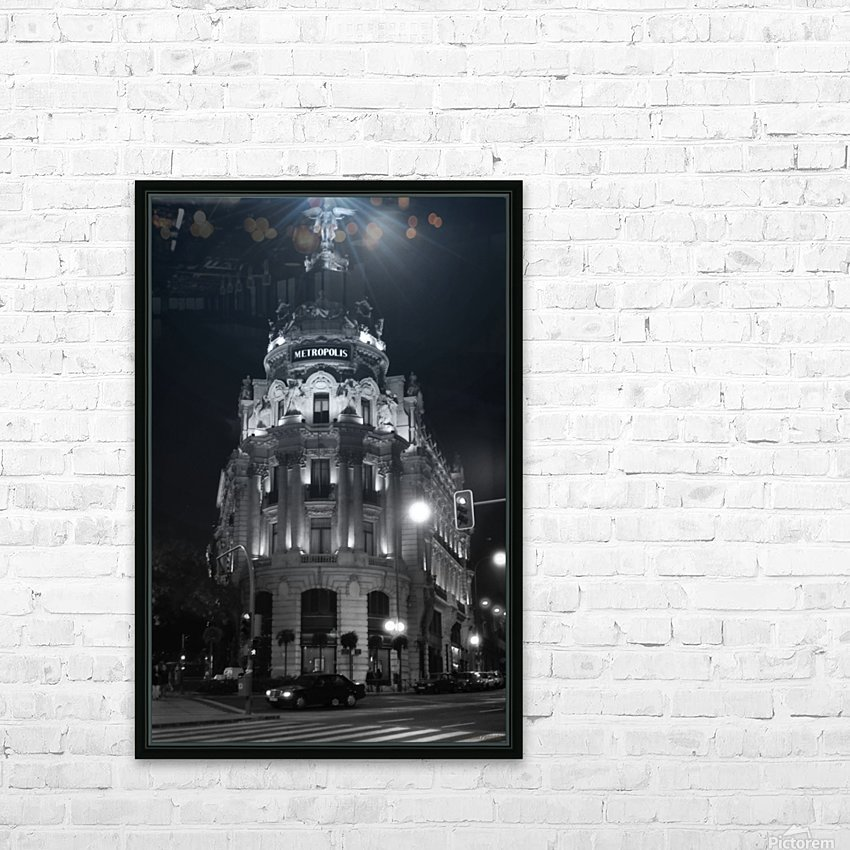 Metropolis Boulding   Grand Via   Madrid HD Sublimation Metal print with Decorating Float Frame (BOX)
