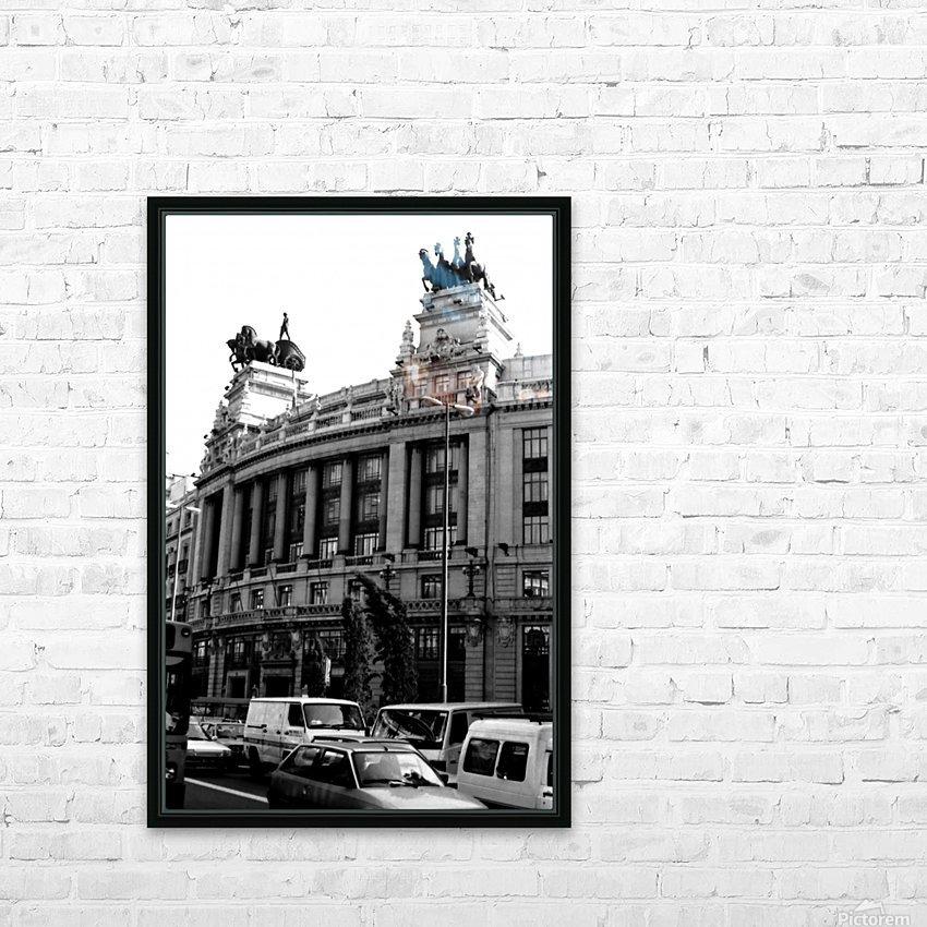 Calle de Alcalá  Madrid HD Sublimation Metal print with Decorating Float Frame (BOX)