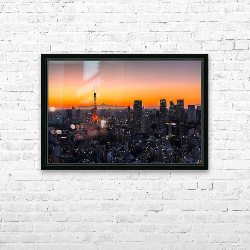 TOKYO 01 HD Sublimation Metal print with Decorating Float Frame (BOX)