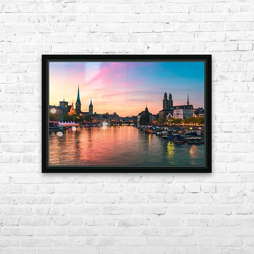 ZÜRICH 05 HD Sublimation Metal print with Decorating Float Frame (BOX)