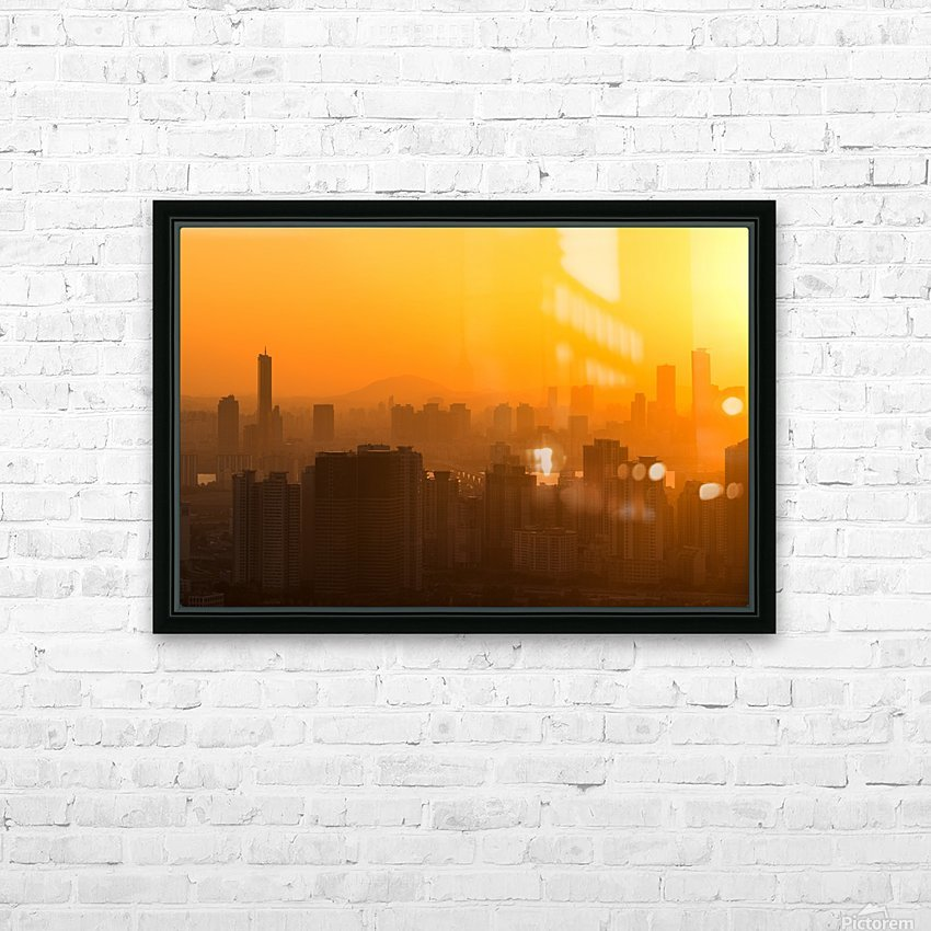 SEOUL 01 HD Sublimation Metal print with Decorating Float Frame (BOX)