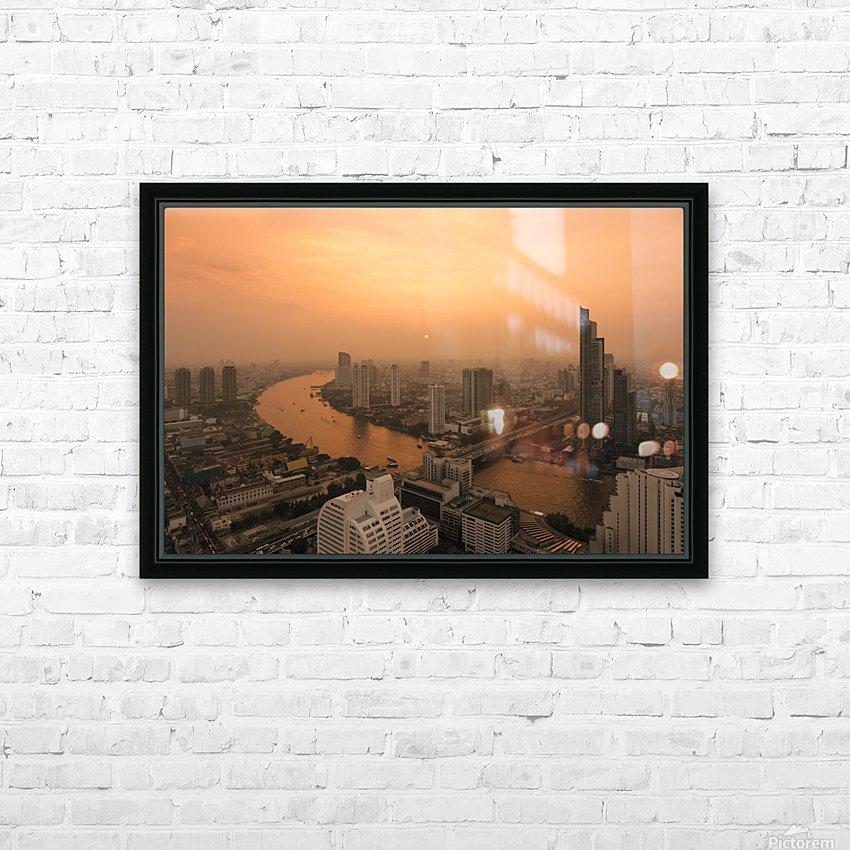 BANGKOK 01 HD Sublimation Metal print with Decorating Float Frame (BOX)