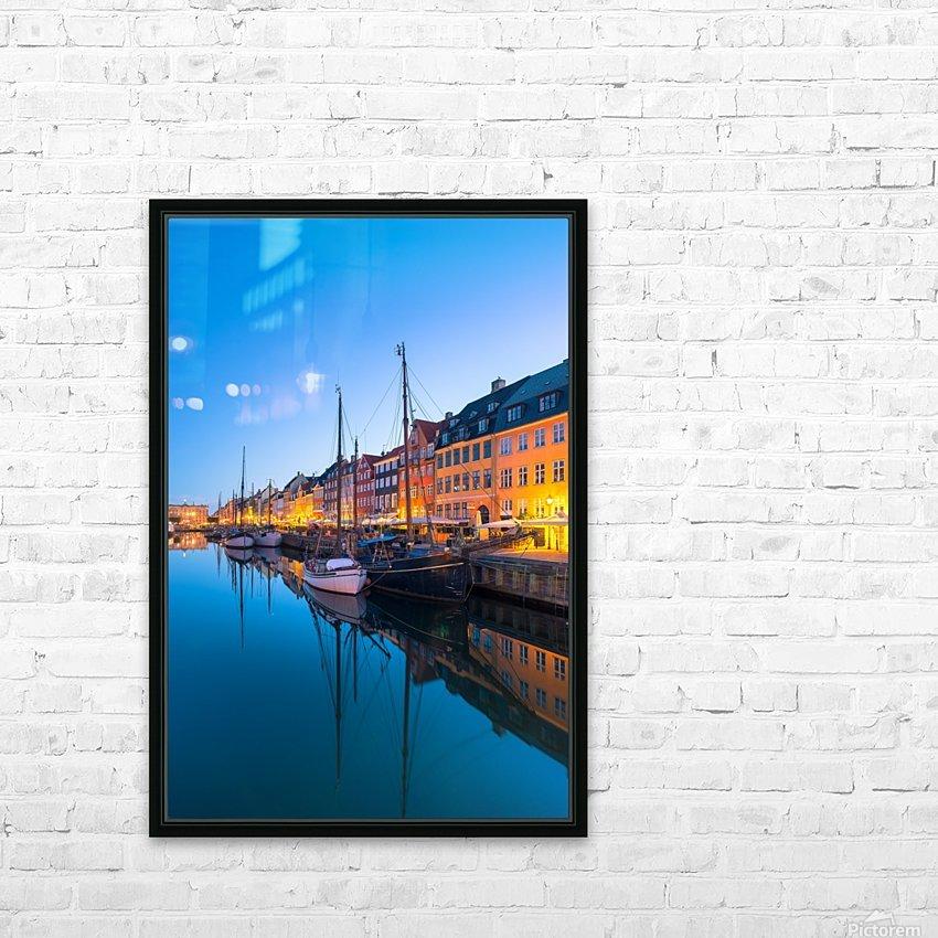 COPENHAGEN 07 HD Sublimation Metal print with Decorating Float Frame (BOX)