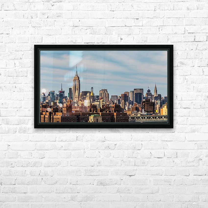 NEW YORK CITY 21 HD Sublimation Metal print with Decorating Float Frame (BOX)