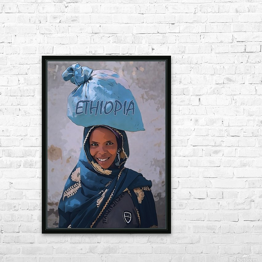Ethiopian women HD Sublimation Metal print with Decorating Float Frame (BOX)