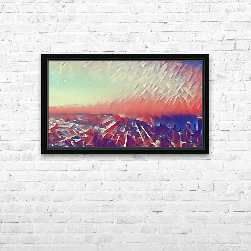 Beautiful Sky HD Sublimation Metal print with Decorating Float Frame (BOX)