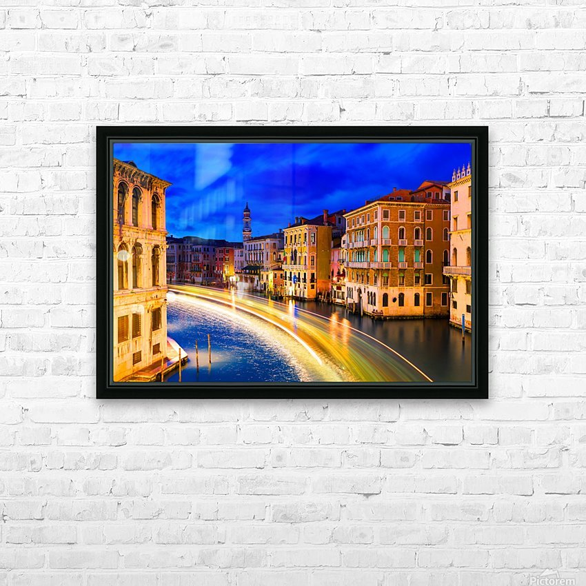 VENICE 02 HD Sublimation Metal print with Decorating Float Frame (BOX)