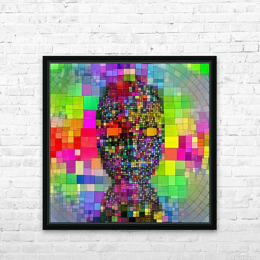 Mysterious Colorful Mask HD Sublimation Metal print with Decorating Float Frame (BOX)