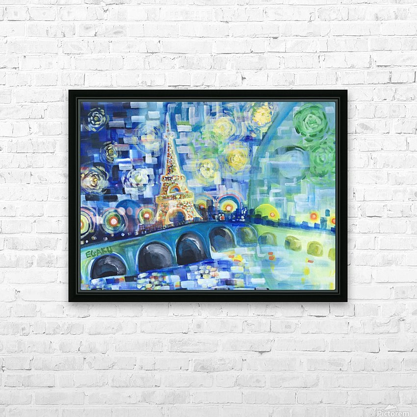 PARIS COLORS OF LOVE HD Sublimation Metal print with Decorating Float Frame (BOX)