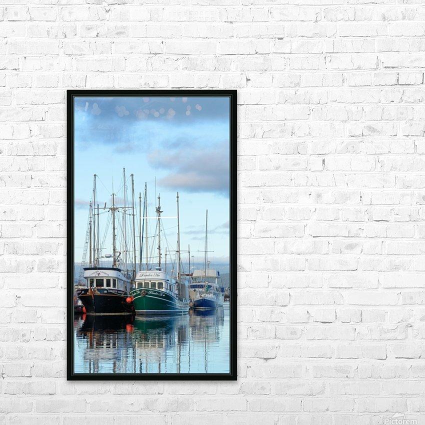Fishers day off HD sublimation métal imprimé avec décoration flotteur cadre (boîte)