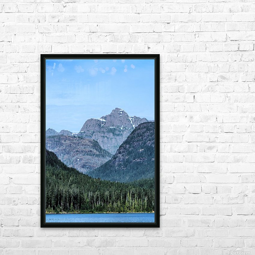Peaks of Strathcona park HD Sublimation Metal print with Decorating Float Frame (BOX)