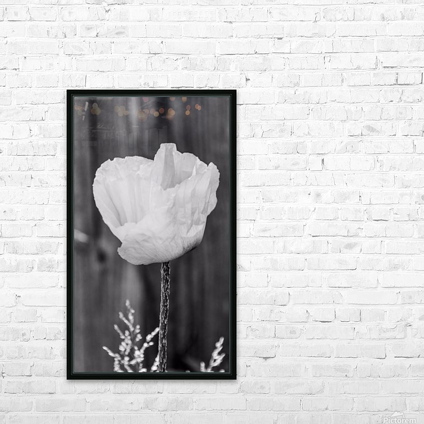 Country poppy HD Sublimation Metal print with Decorating Float Frame (BOX)