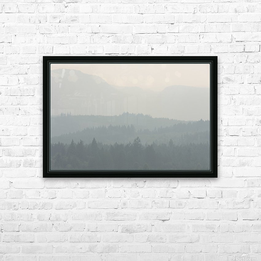 Hills of haze HD Sublimation Metal print with Decorating Float Frame (BOX)