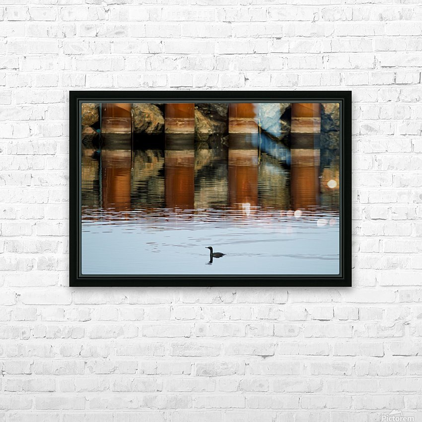 The breakwater HD Sublimation Metal print with Decorating Float Frame (BOX)