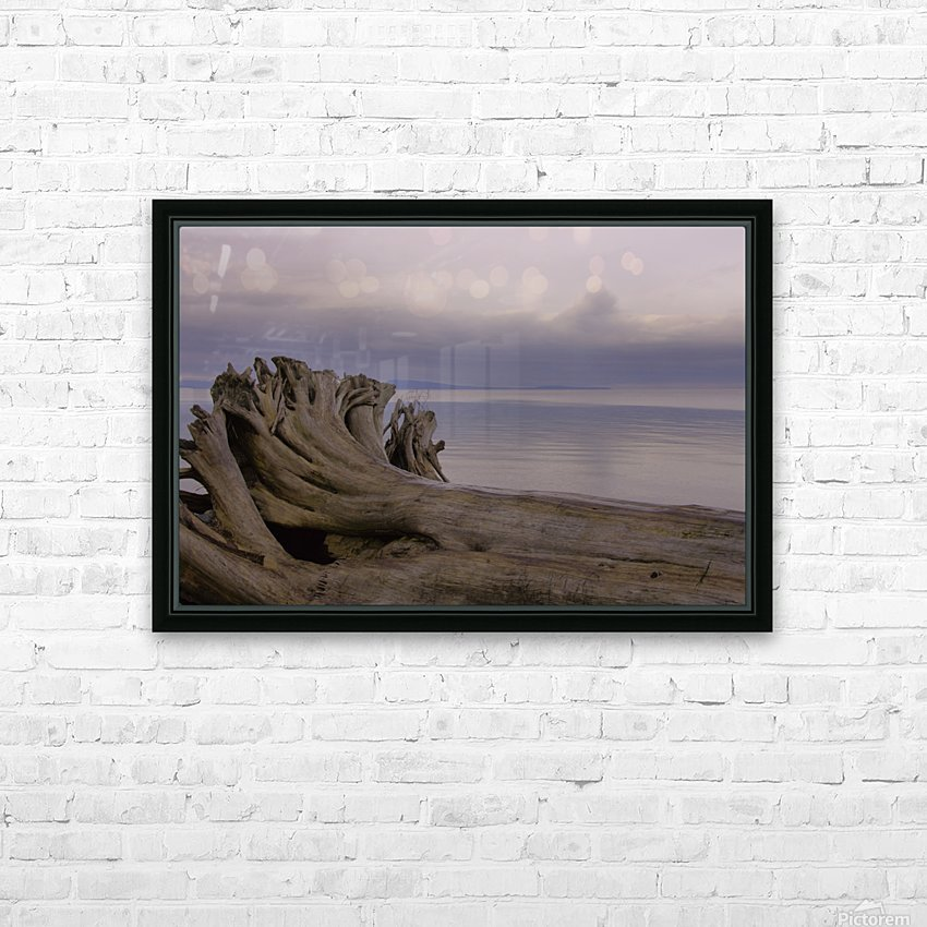 Driftwood HD Sublimation Metal print with Decorating Float Frame (BOX)