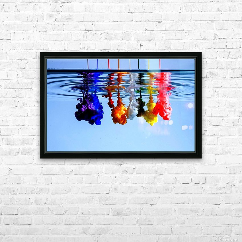 dribbles HD Sublimation Metal print with Decorating Float Frame (BOX)
