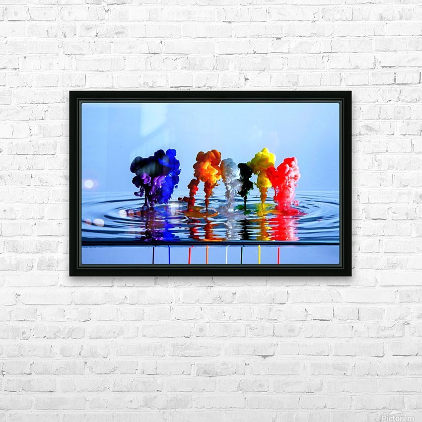 drizzles HD Sublimation Metal print with Decorating Float Frame (BOX)