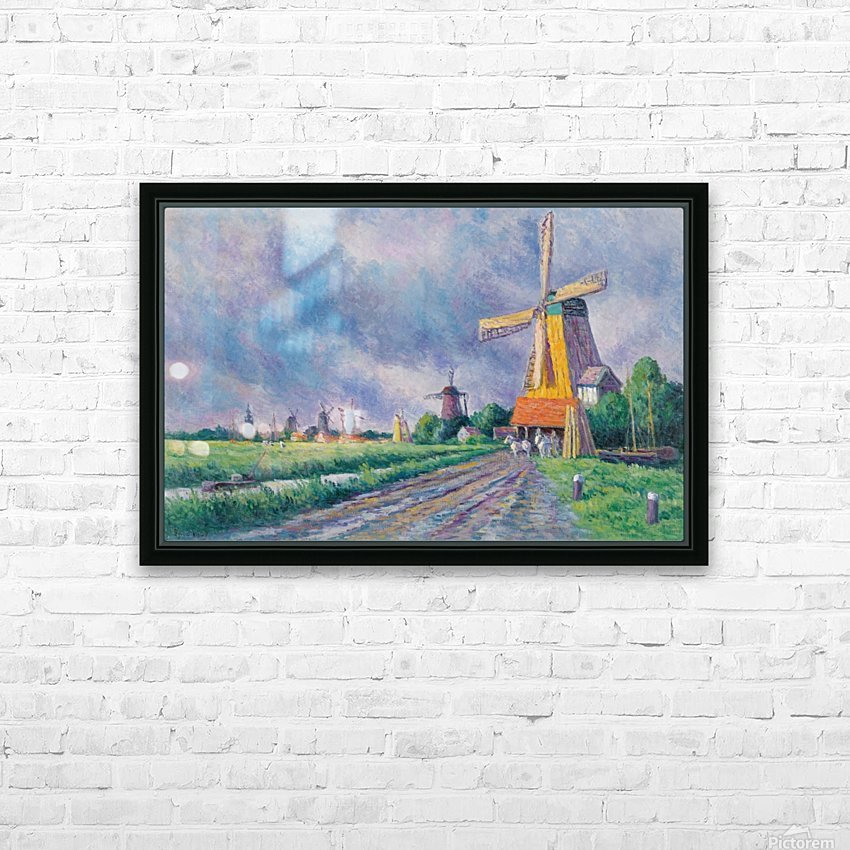 Outskirts of Rotterdam HD Sublimation Metal print with Decorating Float Frame (BOX)