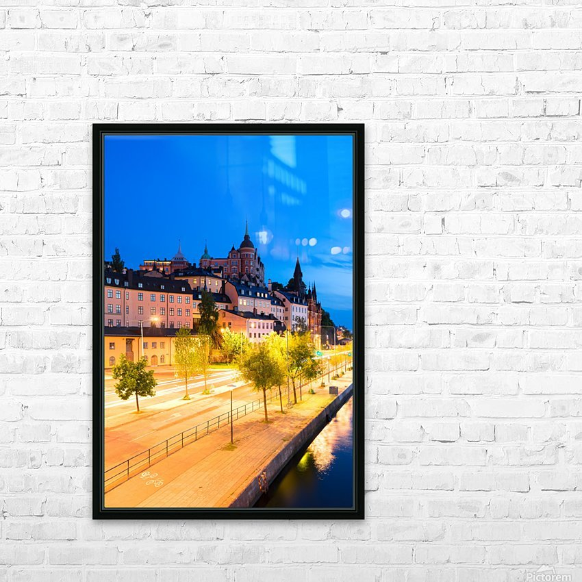 STOCKHOLM 02 HD Sublimation Metal print with Decorating Float Frame (BOX)