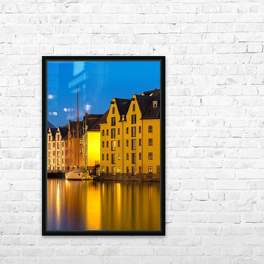ÅLESUND 12 HD Sublimation Metal print with Decorating Float Frame (BOX)