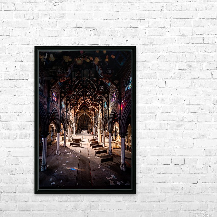 Abandoned Gothic Cathedral HD Sublimation Metal print with Decorating Float Frame (BOX)