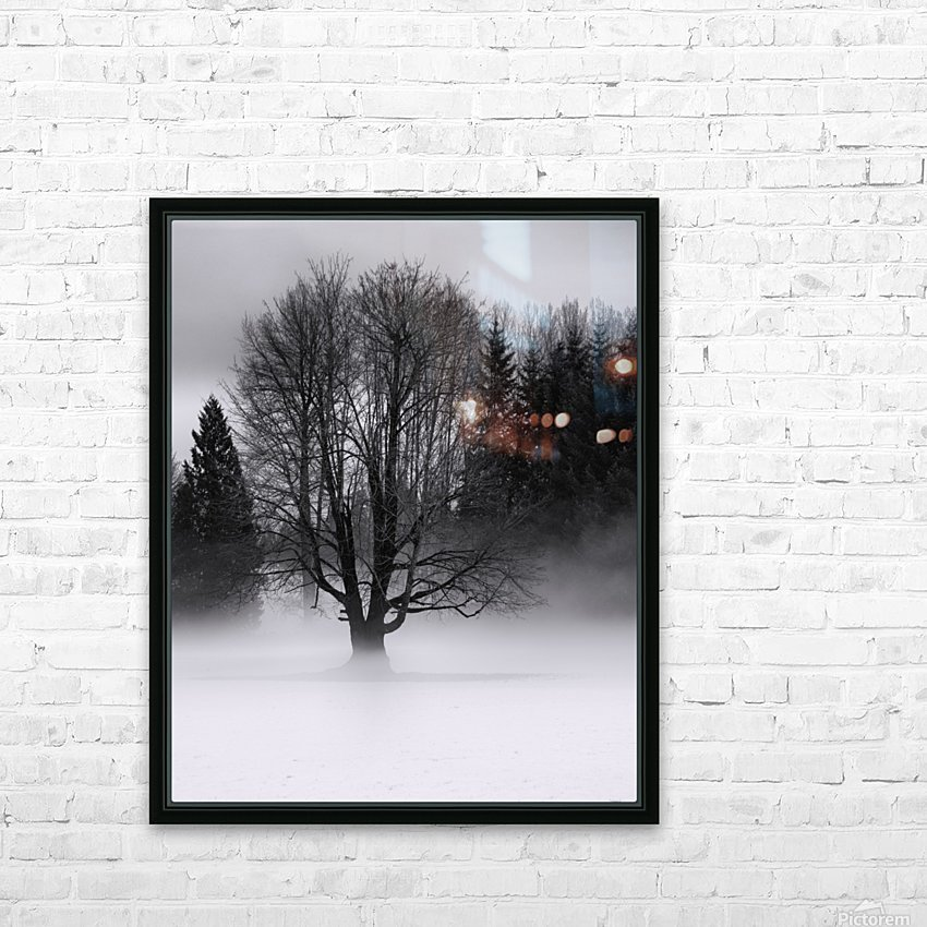 Winter fog HD Sublimation Metal print with Decorating Float Frame (BOX)