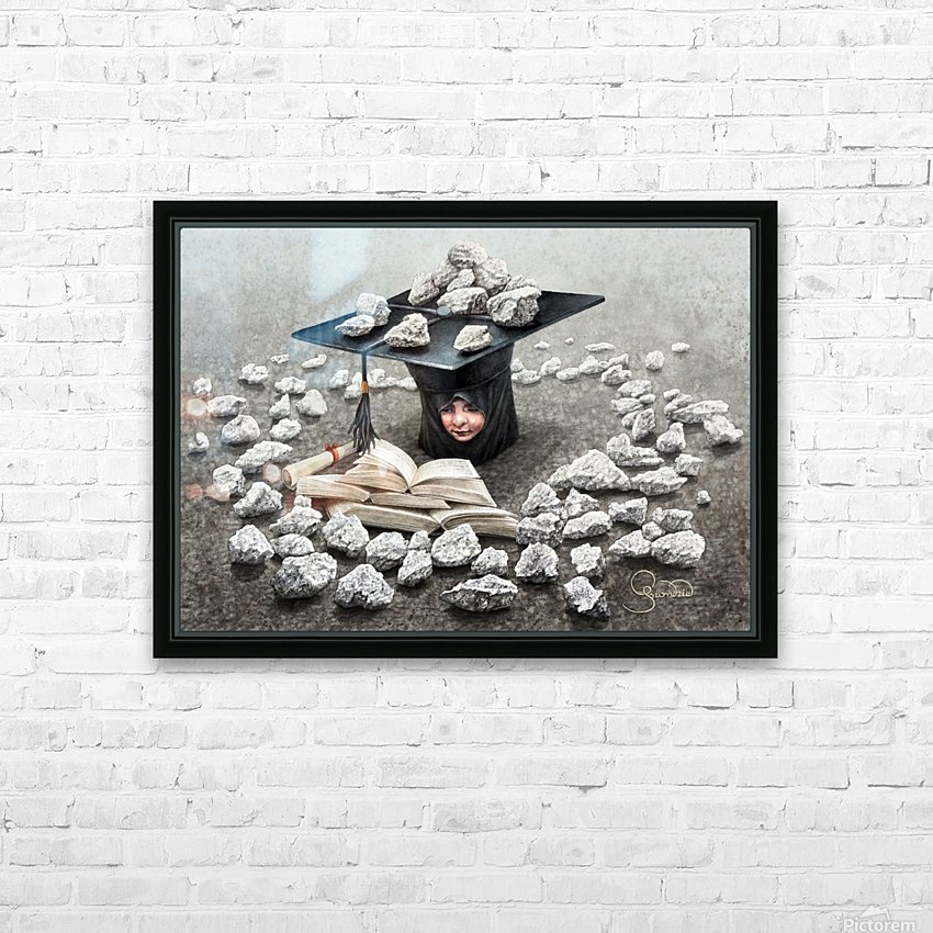 Girls education by Krzysztof Grzondziel HD Sublimation Metal print with Decorating Float Frame (BOX)