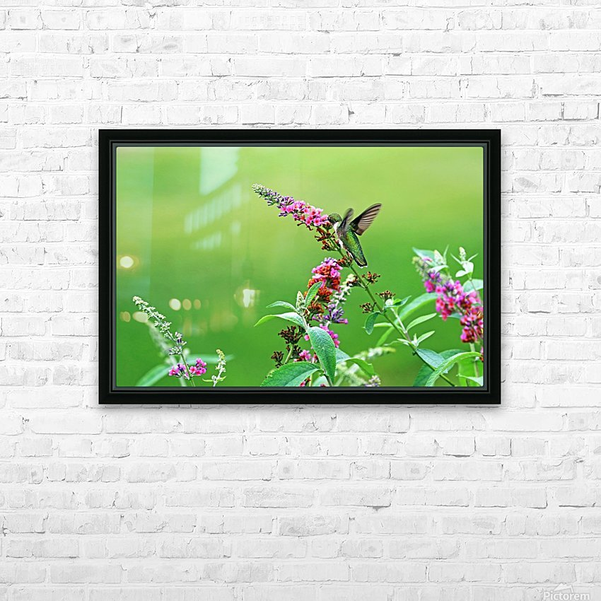 Jewel In The Garden HD Sublimation Metal print with Decorating Float Frame (BOX)
