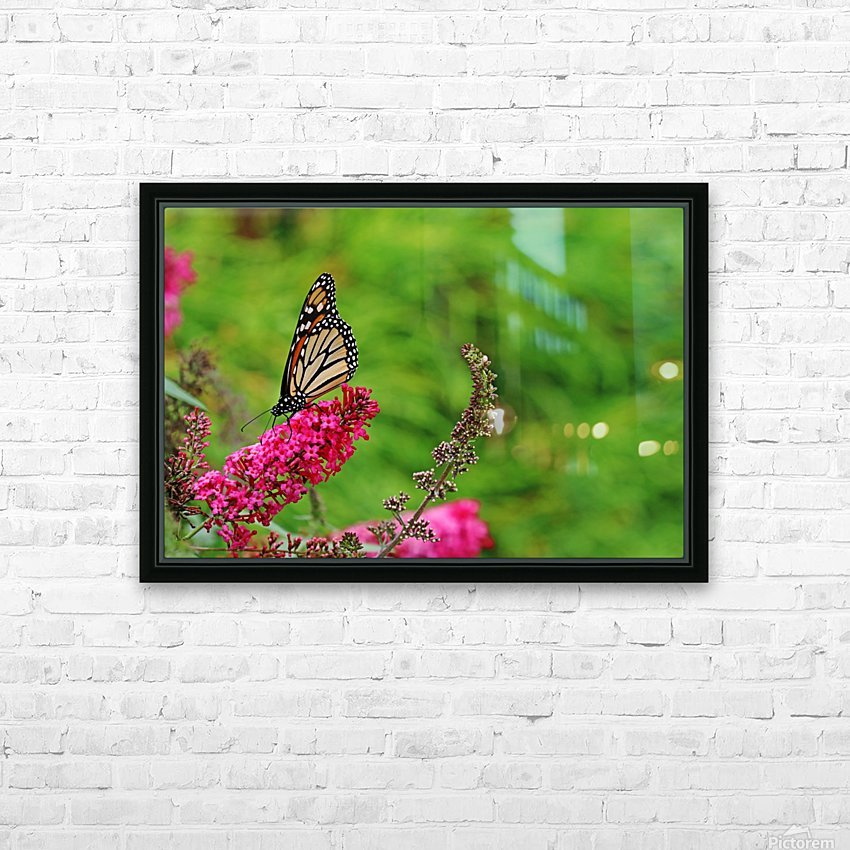 Monarch In The Garden HD Sublimation Metal print with Decorating Float Frame (BOX)