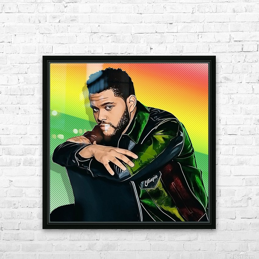 The Weeknd HD Sublimation Metal print with Decorating Float Frame (BOX)