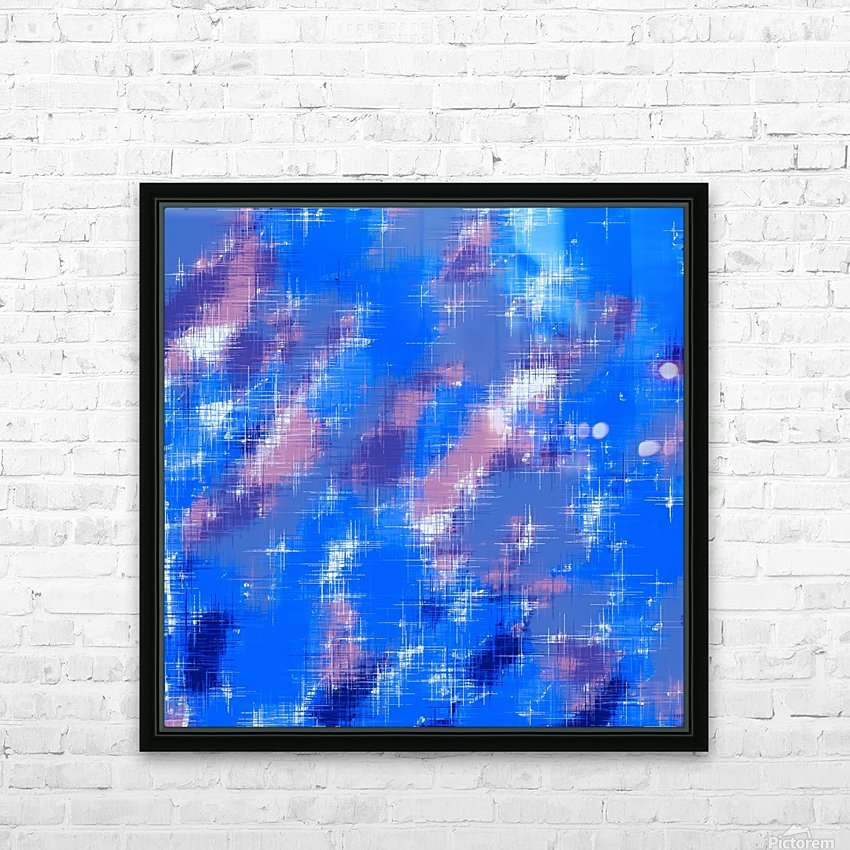 painting texture abstract background in blue pink HD Sublimation Metal print with Decorating Float Frame (BOX)