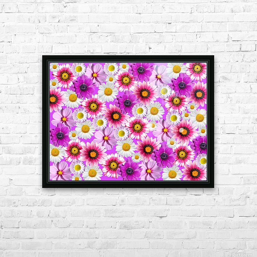 Beautiful colourful flower blossom flower background design floral home decor decoration  HD Sublimation Metal print with Decorating Float Frame (BOX)