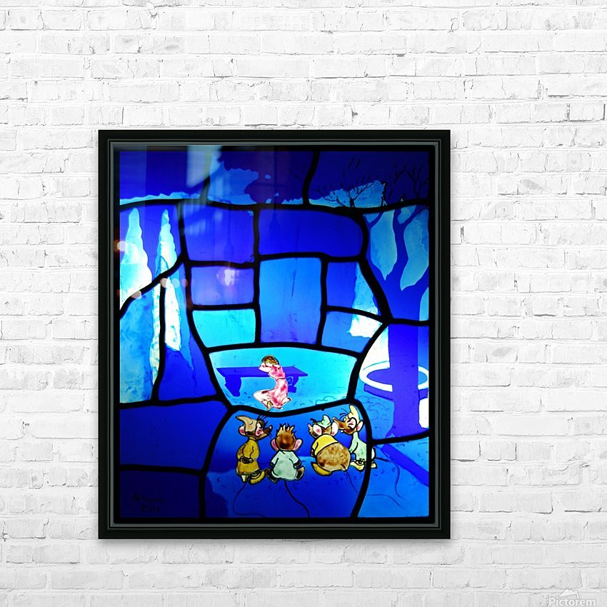 cinderella 2 HD Sublimation Metal print with Decorating Float Frame (BOX)