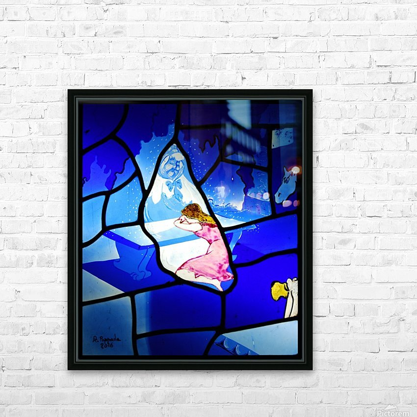 cinderella 3 HD Sublimation Metal print with Decorating Float Frame (BOX)