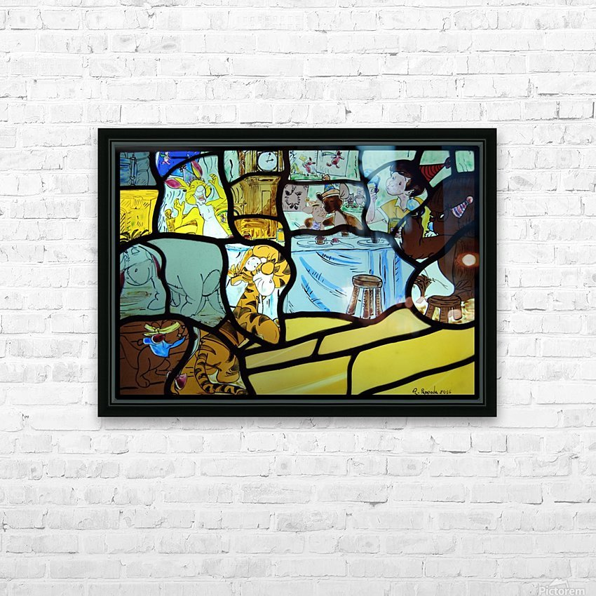 Winnie the Pooh HD Sublimation Metal print with Decorating Float Frame (BOX)