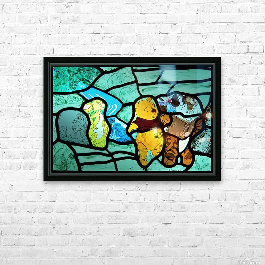 Winnie the Pooh 1 HD Sublimation Metal print with Decorating Float Frame (BOX)