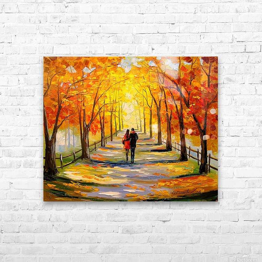 A walk in sunny weather HD Sublimation Metal print with Decorating Float Frame (BOX)