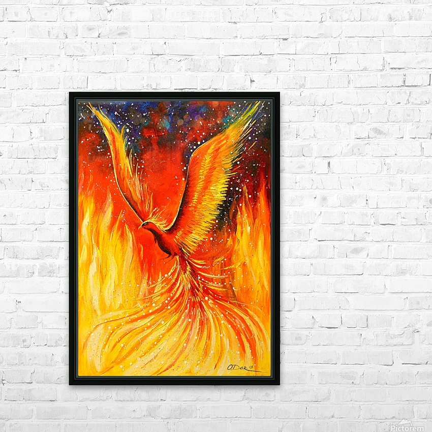 Phoenix bird HD Sublimation Metal print with Decorating Float Frame (BOX)