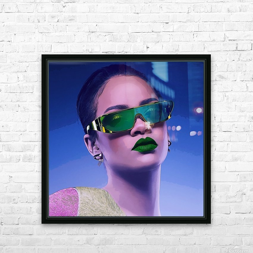 Rihanna HD Sublimation Metal print with Decorating Float Frame (BOX)