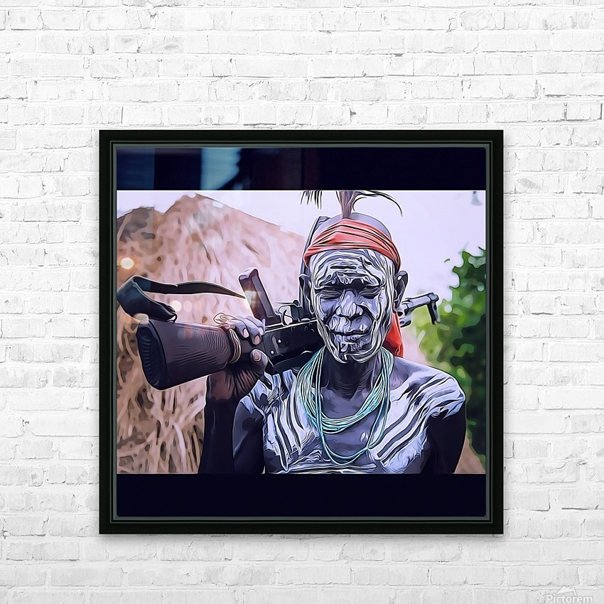 Afar Warrior HD Sublimation Metal print with Decorating Float Frame (BOX)
