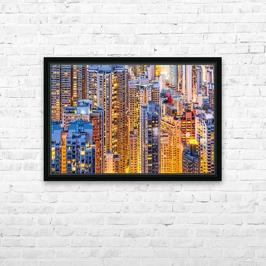 HONG KONG 34 HD Sublimation Metal print with Decorating Float Frame (BOX)