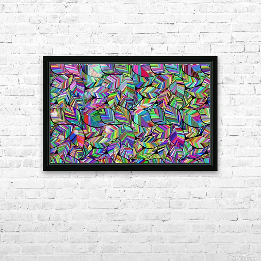 leaves leaf nature ecological green pattern design texture background HD Sublimation Metal print with Decorating Float Frame (BOX)