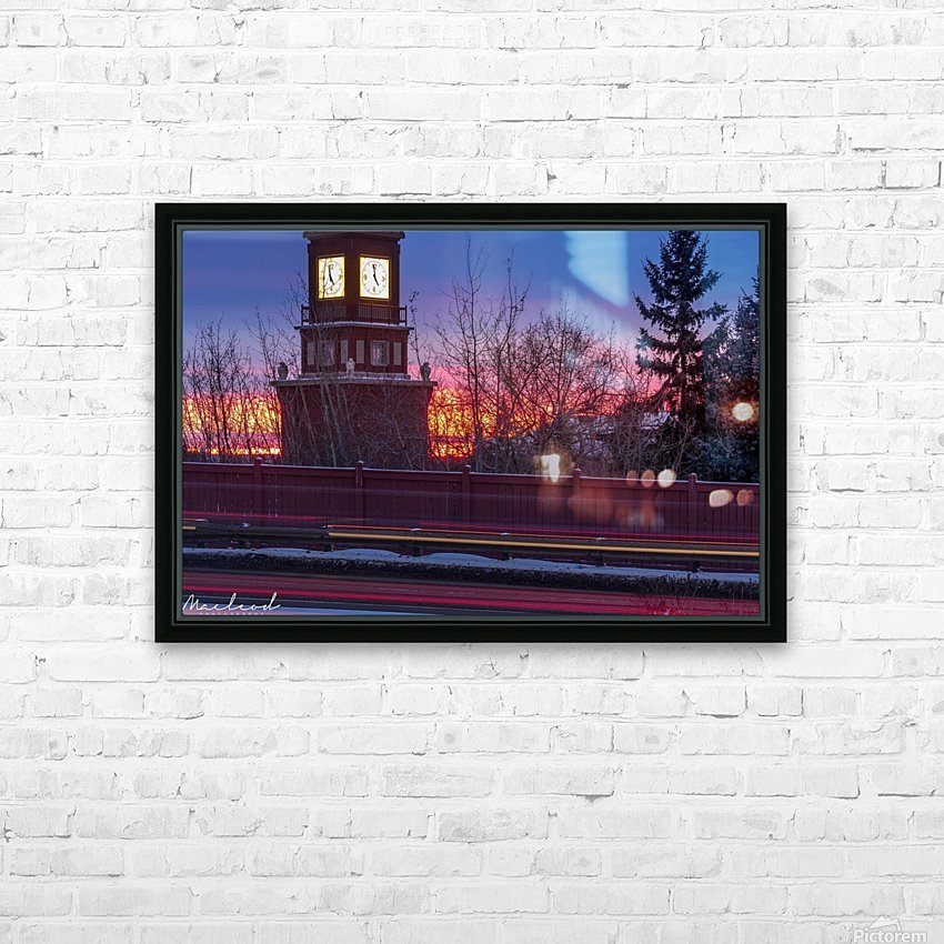 StAlbertTrail_StAlbertClock_Jan18_IMG_6032 HD Sublimation Metal print with Decorating Float Frame (BOX)