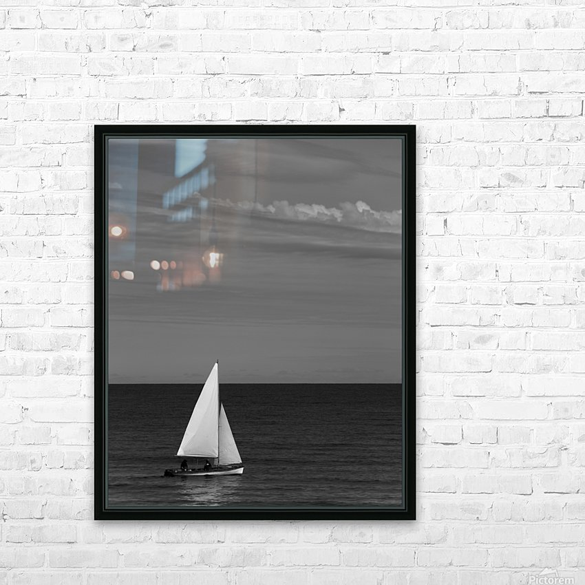 Gentle breeze HD Sublimation Metal print with Decorating Float Frame (BOX)