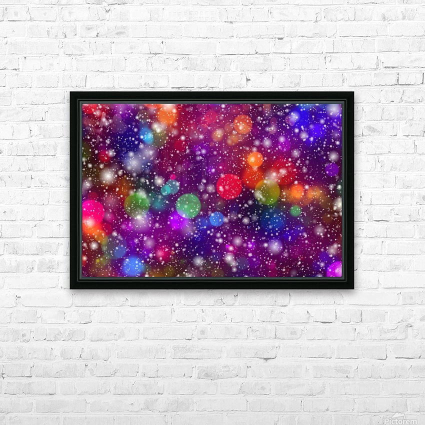 background, abstract, bokeh, lights, decoration, star, party, colorful, confetti, HD Sublimation Metal print with Decorating Float Frame (BOX)