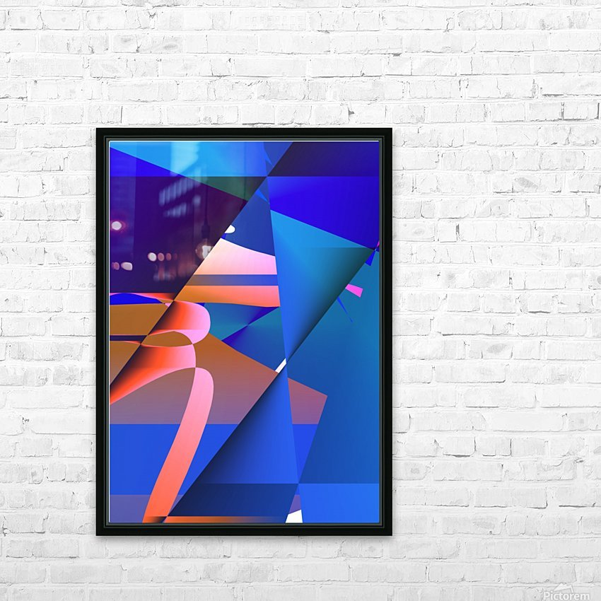 origami PII 12.9a3 18 HD Sublimation Metal print with Decorating Float Frame (BOX)